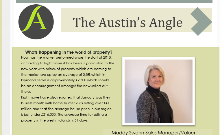 The Austins Angle March Edition - Austins Estate Agents, Wolverhampton