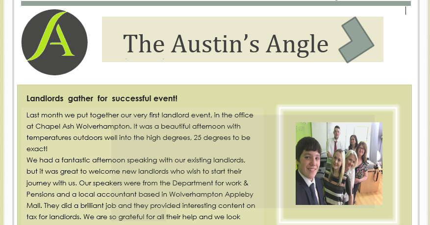 The Austins Angle May Edition - Austins Estate Agents, Wolverhampton