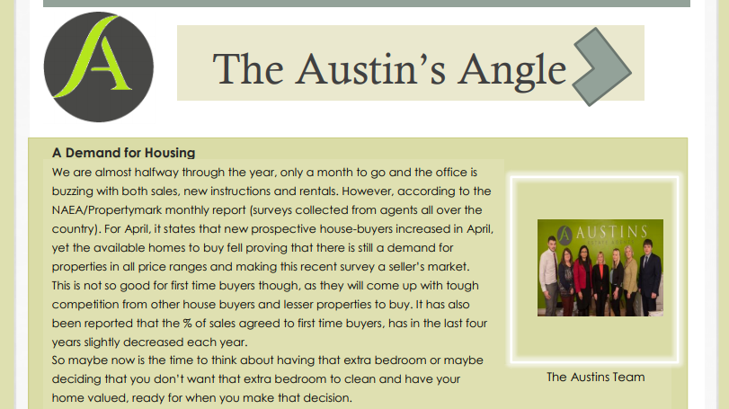 The Austins Angle June Edition - Austins Estate Agents, Wolverhampton