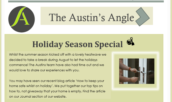 The Austins Angle September Edition Holiday Special - Austins Estate Agents, Wolverhampton