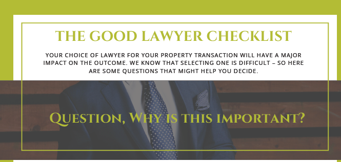 The Good Lawyer Checklist - Austins Estate Agents, Wolverhampton