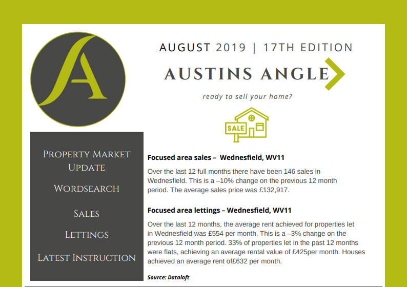 The Austins Angle August Edition - Austins Estate Agents, Wolverhampton