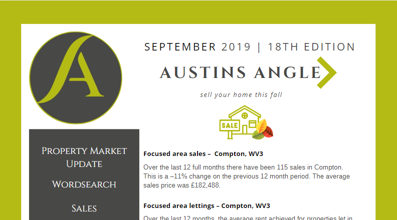 The Austins Angle September Edition - Austins Estate Agents, Wolverhampton