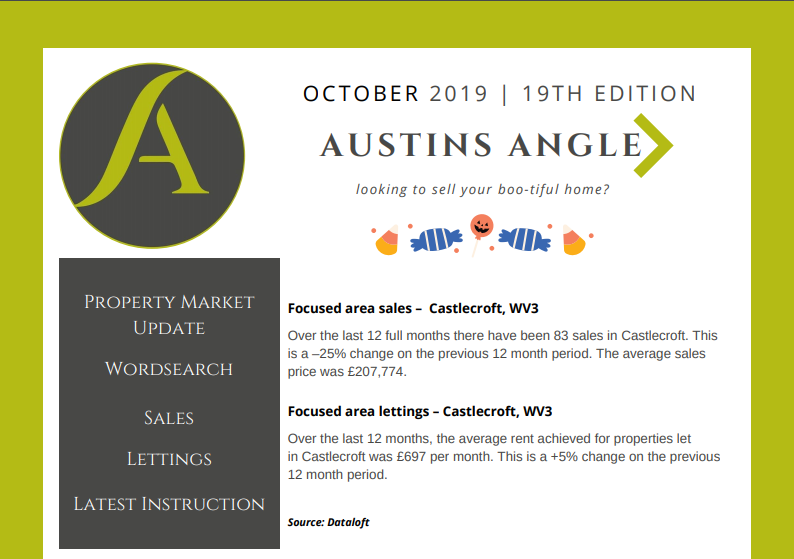 The Austins Angle October Edition - Austins Estate Agents, Wolverhampton